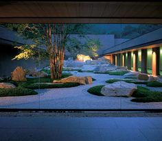 glass courtyard zen garden - Google Search