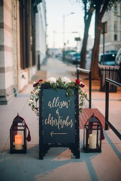 gold chalkboard sign | Alisha Crossley
