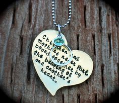 Mothers Day hand stamped necklace