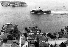 Sarkis Balyan Adası - kuruçeşme kömür depoları, galatasaray adası Old Pictures, Old Photos, My Heritage, Once Upon A Time, Istanbul, The Past, History, City, World