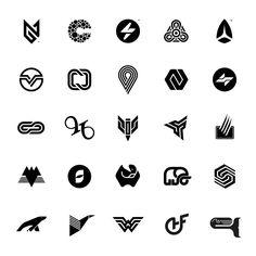"""1,483 Me gusta, 27 comentarios - Gert van Duinen (@creskdesign) en Instagram: """"Couple of random #logos & #brandmarks from the dusty old #logo #symbol archives by Gert van Duinen…"""""""