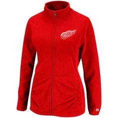 Majestic Detroit Red Wings Ladies Minor Penalty Full Zip Jacket - Red