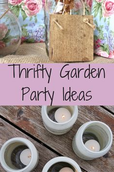 thrifty garden party ideas
