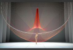 Janet Echelman Dance Collaboration, Stuttgart, Germany, 2014 » Janet Echelman