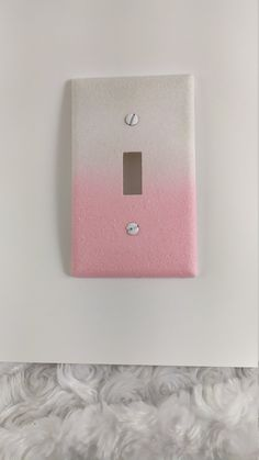 Candy Pink & White Ombre with Iridescent Opal Glitter /Sparkle Bling Light Switch Plates, Rockers, Outlet Covers /Kawaii Decor /Nursery Room by VampedByVivian on Etsy Diy Room Decor For Teens, Cute Room Decor, Teen Room Decor, Light Switch Art, Light Switch Plates, Bedroom Art, Nursery Room, Kawaii Bedroom, White Ombre