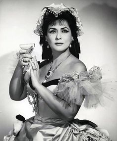 """Interview with Virginia Zeani at 90 """"My brain believes that I'm eternally young"""" - Page 2 of 2 -  Virginia Zeani in La traviata at the Metropolitan Opera, 1966 – photo by Louis Mélançon – Metropolitan Opera"""