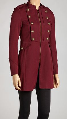 Take a look at this Steve Madden Cabernet Brassy Military Jacket - Women on zulily today! Pretty Outfits, Cool Outfits, Casual Outfits, Fashion Outfits, Military Jacket Women, Military Fashion, Military Style, Jackets For Women, Clothes For Women