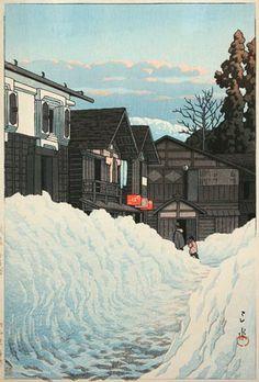 Kawase Hasui (1883-1957) -  Ojiya Echigo - 1941