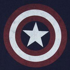 Camiseta Capitán América. Escudo, navy