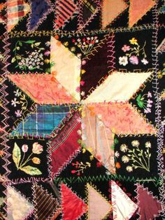 A lot like the quilt my Great-Great Grandmother made in 1875. This one from 1905 :-):