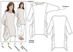 Kaye Tunic Sewing Pattern By Style Arc