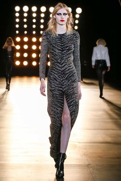 Saint Laurent Fall 2015 Ready-to-Wear Fashion Show - Julia Nobis (Viva)