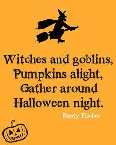 Halloween night... A Halloween poem