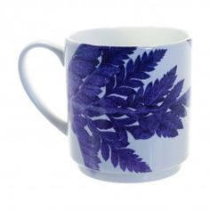 Gillian Arnold Purple Ferns Stacking Mug