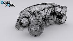 Carro Futurista / 3 días Modeladon en 3D Max