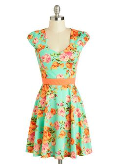 127 Flowers Dress, #ModCloth- Very bright for my usual taste..but I like it. $47.99