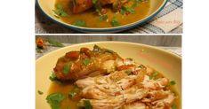 Pollo en salsa de limón y miel, una receta rica y fácil de elaborar, preparada en olla de cocimiento lento.
