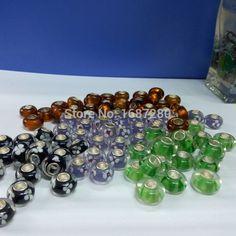 50PCS/Lot Mix Colors Silver Murano Glass Beads fit European Charm Bracelets Bangle & pendants - http://www.aliexpress.com/item/50PCS-Lot-Mix-Colors-Silver-Murano-Glass-Beads-fit-European-Charm-Bracelets-Bangle-pendants/32320623892.html