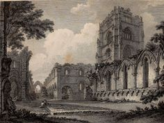 How Medieval England looked 200 years ago. Fountains Abbey, North Yorkshire