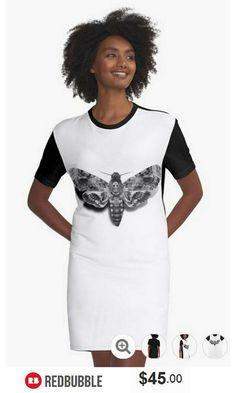 Death's-Head Hawkmoth Tshirt Dress   #artbyurte