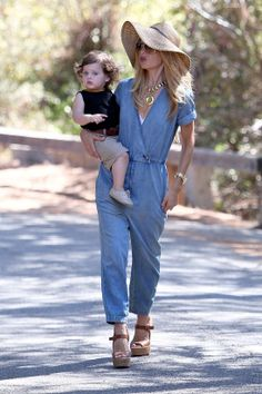 Rachel Zoe - jeans jumpsuit | #AutumnSummer #SoftAutumn #RachelZoe