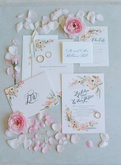 Lauren Conrad's wedding invitation suite