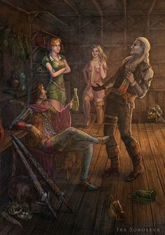 The Witcher Shanis party by irasoboleva