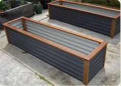 love the design of these raised garden beds!