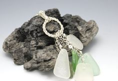 Think art Loud: Wearable Wednesday - Rings of Glass sea glass necklace by MakinTheBestOfIt