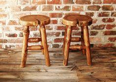 Cracked log furniture stool pine wood linden tree slice unique natural brown by WoodandBlood on Etsy
