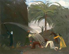 John Bradford, Moses striking the rock Bradford, The Rock, Oil On Canvas, Paintings, Art, Art Background, Paint, Painting Art, Kunst