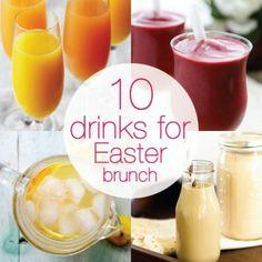 10 Delicious Drinks for Easter Brunch - Babble Easter Recipes, Brunch Recipes, Holiday Recipes, Brunch Food, Brunch Ideas, Drink Recipes, Fancy Drinks, Yummy Drinks, Refreshing Drinks