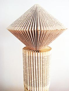 Folded Pages Book Sculpture Art | Art Pyramid Book paper Sculpture altered Book folded paper recycled ...