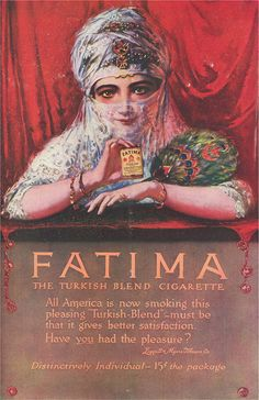 Is a publicity of #Cigarette Fatima Flickr