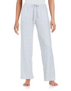 Nuit Rouge Printed Pajama Pants Women's Grey X-Large