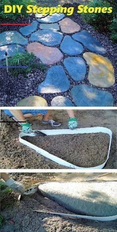 Stepping Stone Walk Maker Garden Path Mold | Etsy - #steppingstonespathway - ROCKA DESIGN Custom Stone Maker is the perfect tool to create your custom stepping stones. You will find it not only fast and easy to use - but fun too. No special skills or hard work involved. Now you can create endless designs. •Perfect for the garden-lover looking to create that custom walkway in their garden. •Fun and Easy To Use. No special skills required. •Enjoy your personal custom garden path in no time… Stepping Stone Walkways, Stone Path, Diy Stepping Stones, Stone Garden Paths, Garden Steps, Diy Garden, Smart Garden, Beer Garden, Garden Crafts