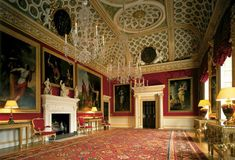 Syon House, with its park, is situated in west London, England. It belongs to the Duke of Northumberland and is now his family's London residence. The family's traditional central London residence was Northumberland House. The eclectic interior of the hou Belton House, Harewood House, Chatsworth House, Woburn Abbey, Chateau Hotel, Spencer House, Spencer Family, Houghton Hall, London