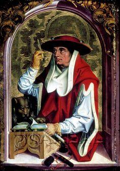 Hl. Hieronymus  Kunstwerk: Temperamalerei-Holz ; Einrichtung sakral ; Flügelaltar ; Stäber Georg ; Salzburg  Dokumentation: 1495 ; 1500 ; Salzburg ; Österreich ; Salzburg ; St. Peter  Anmerkungen: 56x39