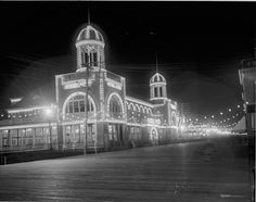 Atlantic City, New Jersey. The Steel Pier, Circa 1910. The Steel Pier was one of the major amusement piers built off the boardwalk in Atlantic City, opening on June 18th, 1898. The steel girder...