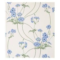 Axmarby - Køb tapet med blå blomster fra Duro Gammalsvenska