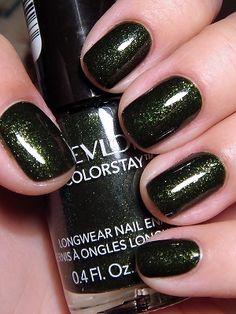 New nails gel polish colors sparkle Ideas Green Nails, Blue Nails, Gold Nails, Gel Polish Colors, Nail Colors, Gelish Nails, Nail Nail, Nail Polishes, New Nail Designs