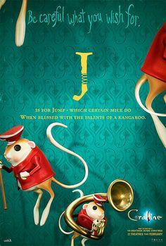 Coraline Alphabet Poster J