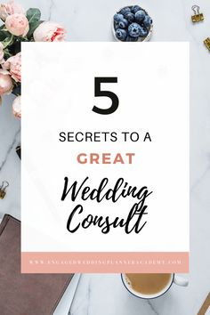 A great wedding consult doesn't come naturally. It can be especially hard when you're dealing with self-doubt. Just like everything else, wedding consultations take practice. Here are 5 secrets to a great wedding consult. | successful wedding business, wedding business success, wedding planner, wedding consultation | Engaged Wedding Planner Academy | #weddingbiz #weddingplanner #weddingconsultation