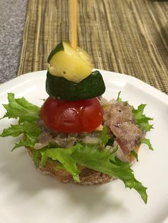 One of the four pinchos prepared for 323 guests at Hakodate's Bar-Gai. Sept. 2019.