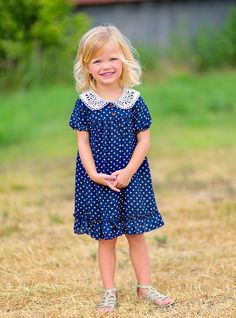 Polka dot and crochet dress from pippylou.com