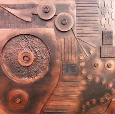 Abstract Wall art 3D  Copperline Series No. by skyetaylorgalleries, $499.00