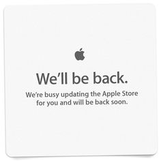 Apple Store Down Setting Up For Later Announcements