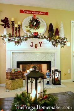 2011 Christmas mantel