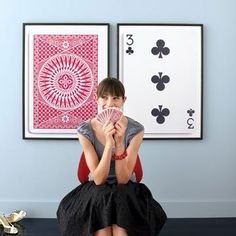 All Blown Up: How To Create Custom Large-Scale Artwork. Enlarged and framed deck of playing cards