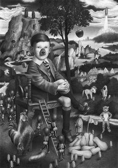 As surreais e bizarras ilustrações em preto e branco de Amandine Urruty